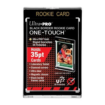 Ultra Pro: Black Border One-Touch Rookie Card Display Magnetic Closure