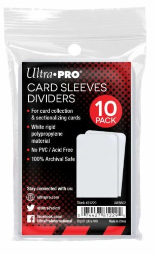 Ultra Pro: Card Dividers: Sleeve Dividers