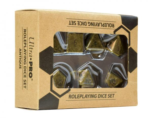 Ultra Pro: Heavy Metal 7 RPG Set Dice: Antique
