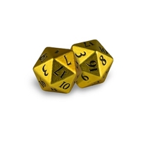 Ultra Pro: Heavy Metal D20 Dice Set: Yellow