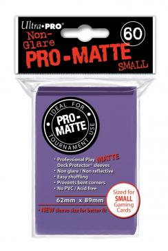 Ultra Pro: Non-Glare Pro-Matte Small Sleeves (60): Purple