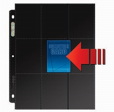 Ultra Pro: Side Loading Pages - 18 Pockets Black