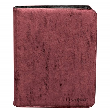 Ultra Pro: Zippered Pro-Binder Suede- Ruby