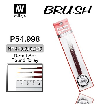 VALLEJO: Brushes- Synthetic Toray Detail Set