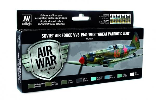 Vallejo: Air War Color Series: Soviet Air Force VVS 1941 to 1943 Great Patriotic War