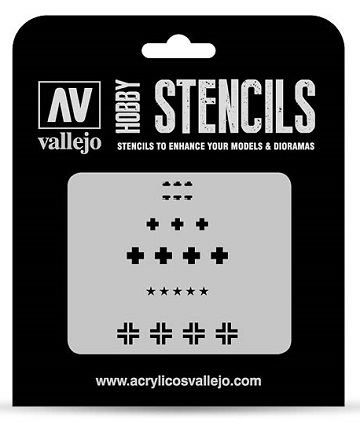 Vallejo Hobby Stencils: ASSORTED GERMAN WWII TANK MARKINGS