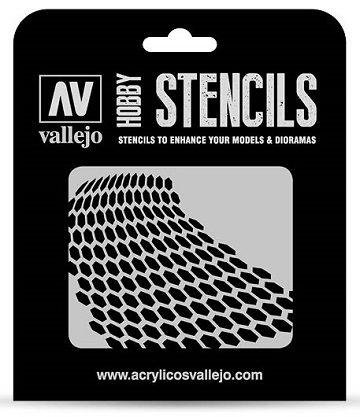 Vallejo Hobby Stencils: DISTORTED HONEYCOMB