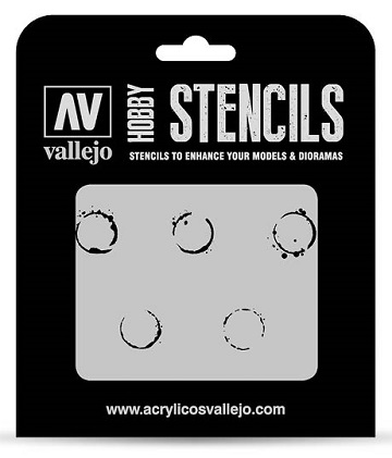 Vallejo Hobby Stencils: DRUM OIL MARKINGS