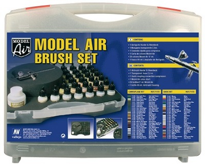 Vallejo: (71173) Model Air Brush Set [Camouflage Colors]