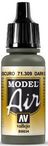 Vallejo Model Air Colors 309: Dark Slate Grey
