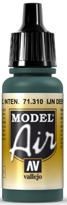 Vallejo Model Air Colors 310: IJN Deep Dark Green