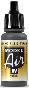 Vallejo Model Air Colors 315: Tyre Black