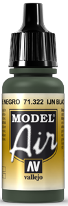 Vallejo Model Air Colors 322: IJN Black Green