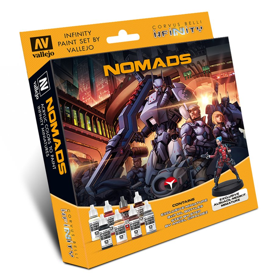 Vallejo: Model Color Set - Infinity Nomads Exclusive Miniature [Damaged]