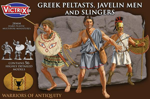 Victrix 28mm Warriors of Antiquity: Greek Paltasts, Javelin Men and Slingers
