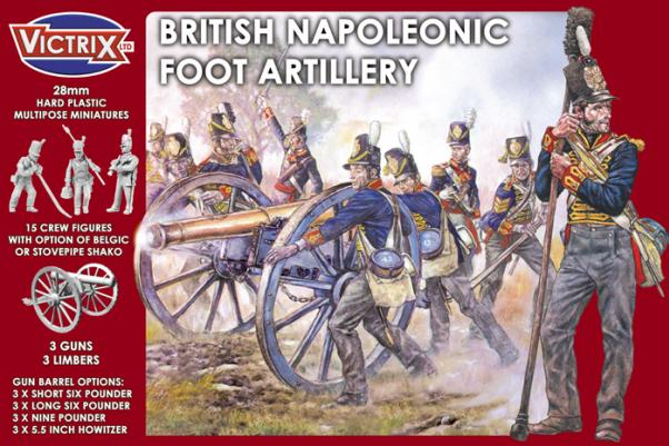 Victrix 28mm: British Napoleonic Foot Artillery