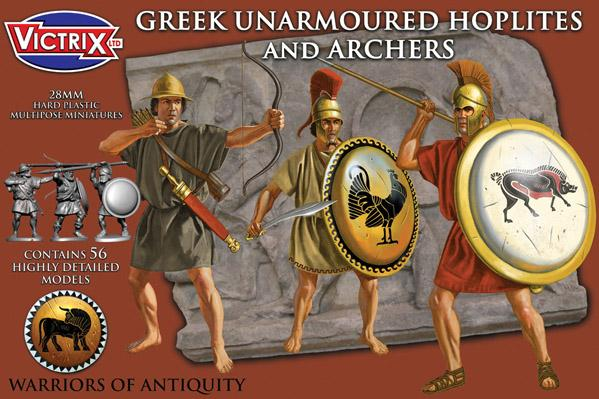 Victrix 28mm Warriors of Antiquity: Greek Unarmoured Hoplites and Archers