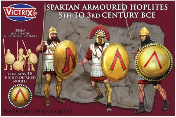 Victrix 28mm Warriors of Antiquity: Spartan Armoured Hoplites