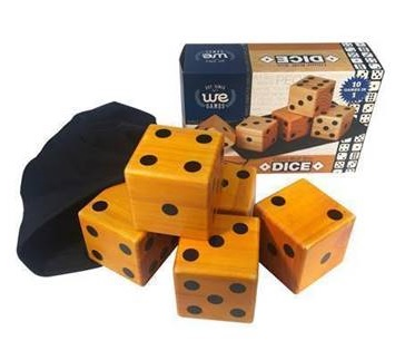 WOODEN LAWN DICE (SET OF 5)