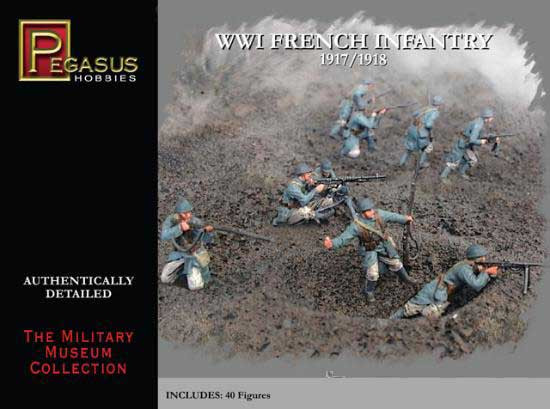 Pegasus Hobbies: WWI French Infantry 1/72
