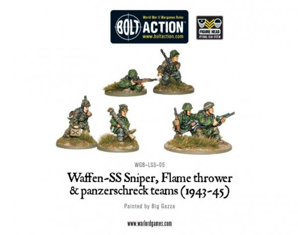 Bolt Action: German: Waffen-SS Sniper, Flame thrower & panzerschreck teams (1943-45)