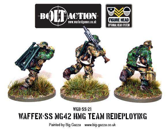 Bolt Action: German: Waffen SS HMG42 Team Redeploying