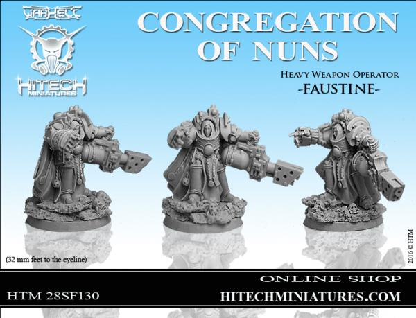 WarHell: Congregation Of Nuns- Heavy Weapon Operator Faustine