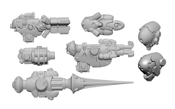 Warcaster: Iron Star Alliance- Firebrand B Weapon Pack