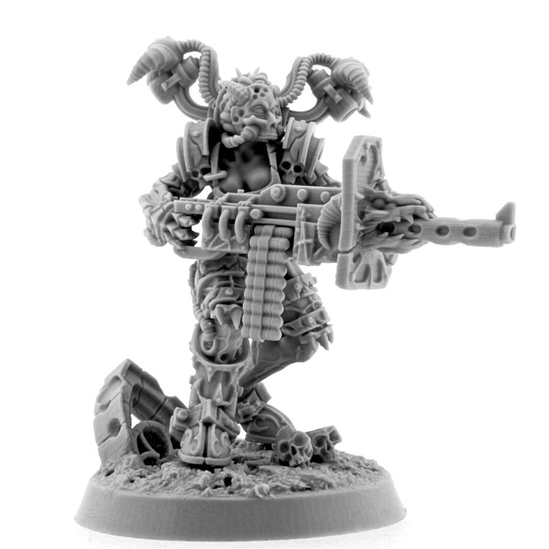 Wargame Exclusive: Chaos: POSSESSED CULTIST WITH HEAVY MACHINE GUN