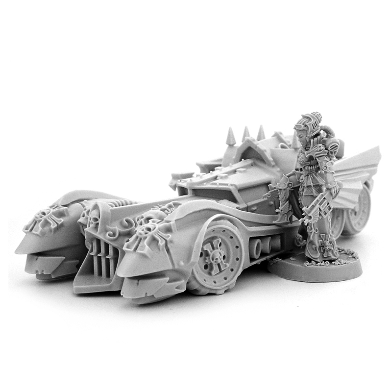 Wargame Exclusive: Heresy Hunter: FEMALE INQUISITOR WITH INTERCEPTOR CAR