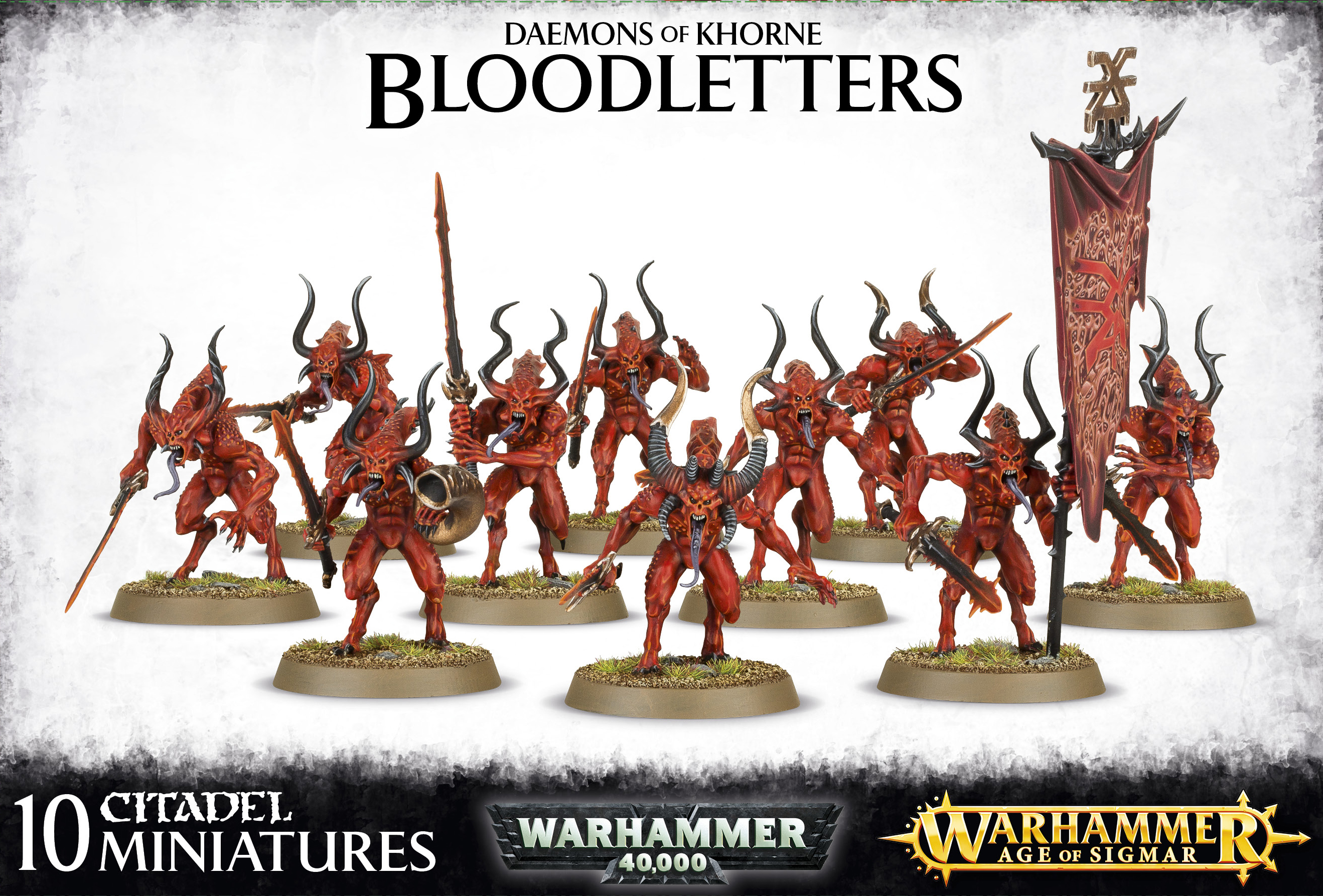 Warhammer 40,000/ Age Of Sigmar: Chaos Daemons/ Daemons of Khorne: Bloodletters