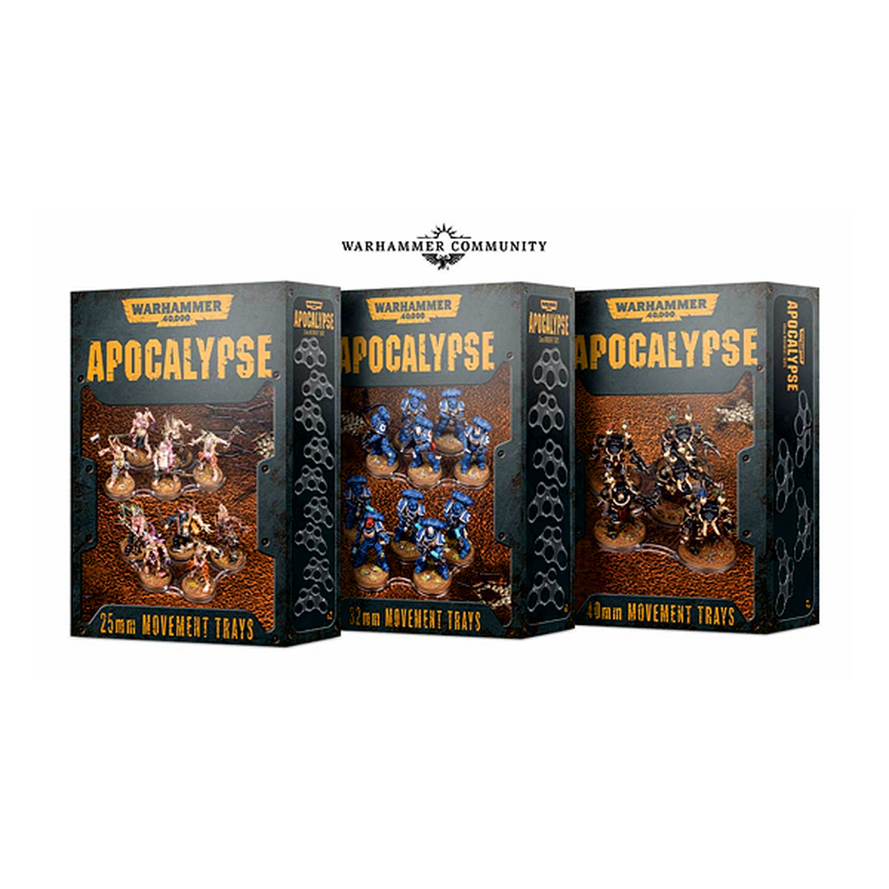 Warhammer 40,000: Apocalypse 25mm Movement Trays