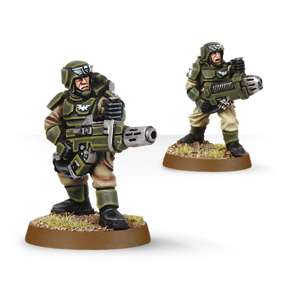 Warhammer 40,000: Astra Militarum: Cadian with Plasma Gun and Meltagun