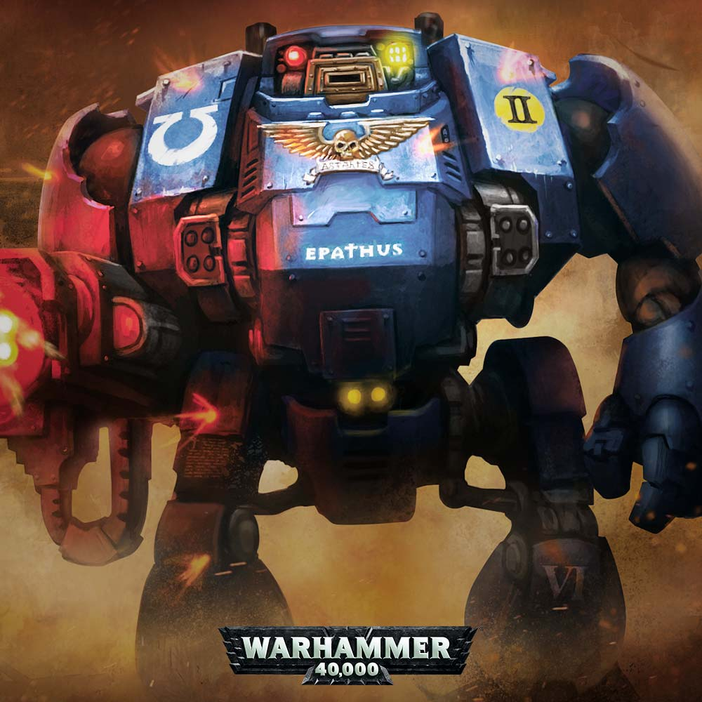 Warhammer 40,000: Easy To Build Space Marines Primaris Redemptor Dreadnought