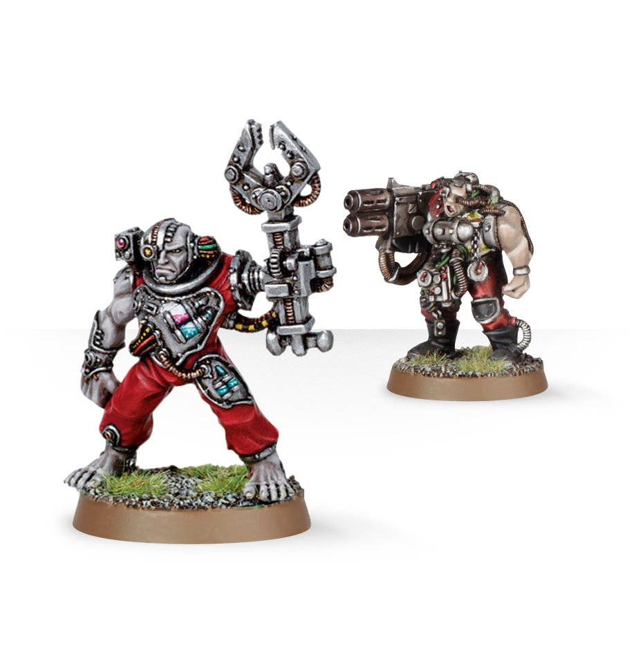 Warhammer 40,000: Grey Knights: Servitors with Multi-melta
