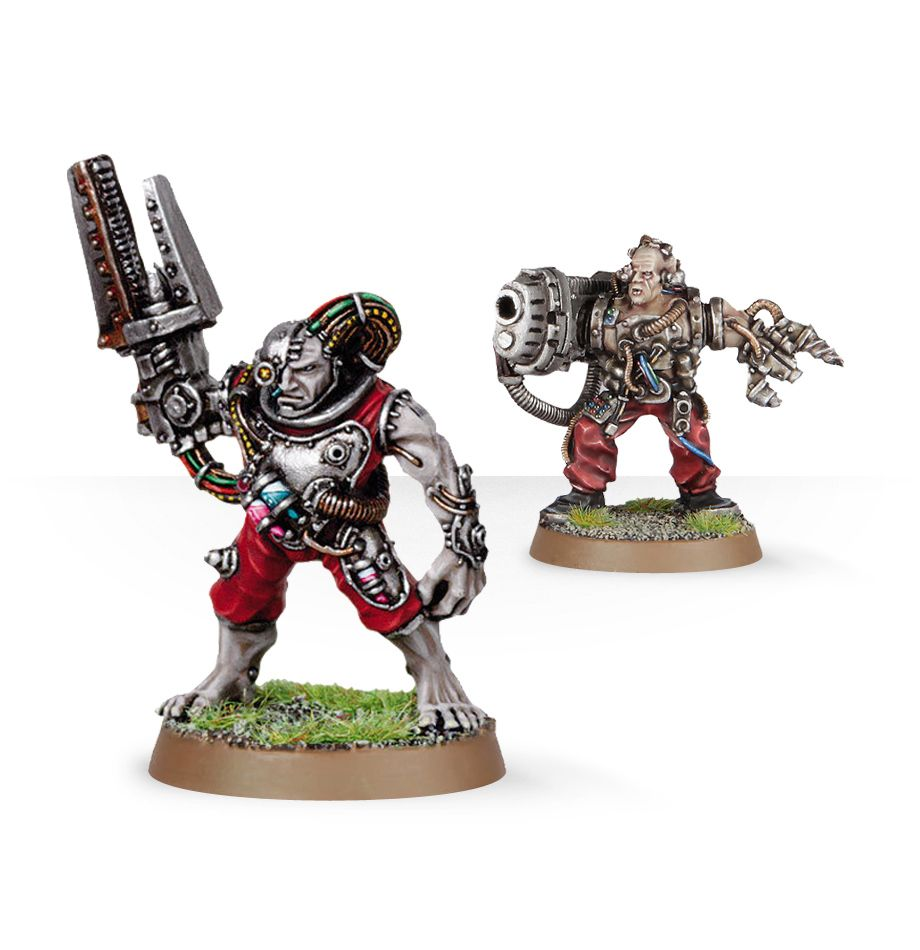 Warhammer 40,000: Grey Knights: Servitors with Plasma Cannon