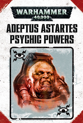 Warhammer 40,000: Psychic Powers Cards: Adeptus Astartes (7th Edition) [SALE]