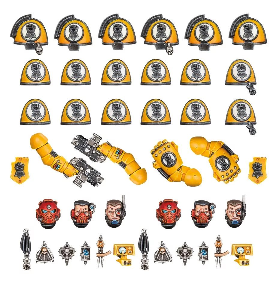 Warhammer 40,000: Space Marines: Imperial Fists Primaris Upgrades & Transfers
