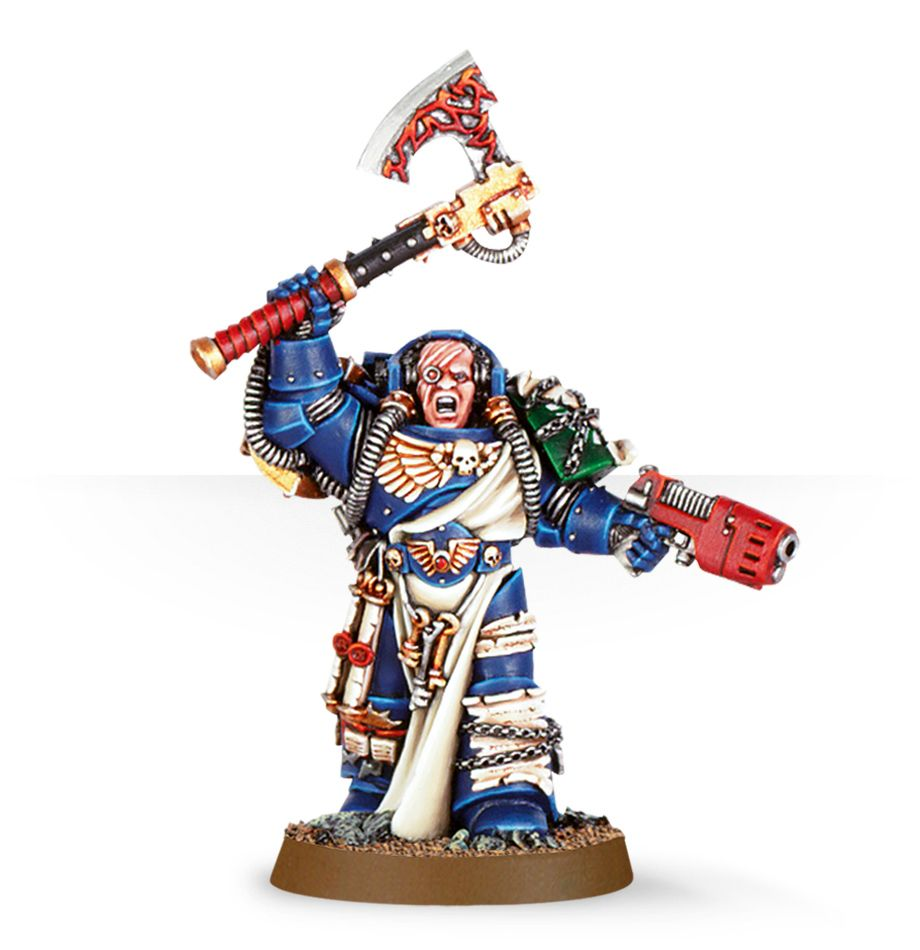 Warhammer 40,000: Space Marines: Librarian with Force Axe & Plasma Pistol