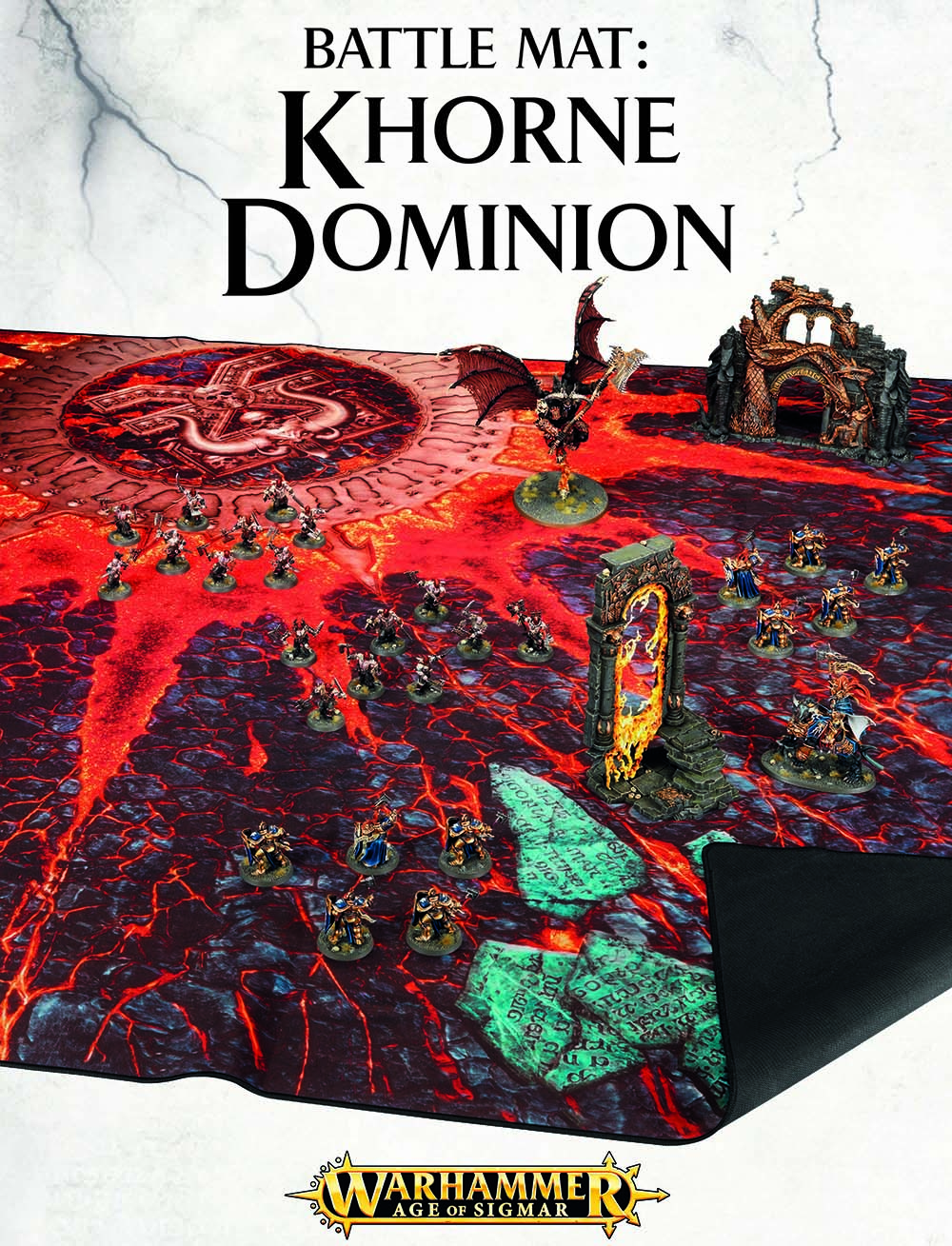 Warhammer Age of Sigmar: Battle Mat: Khorne Dominion