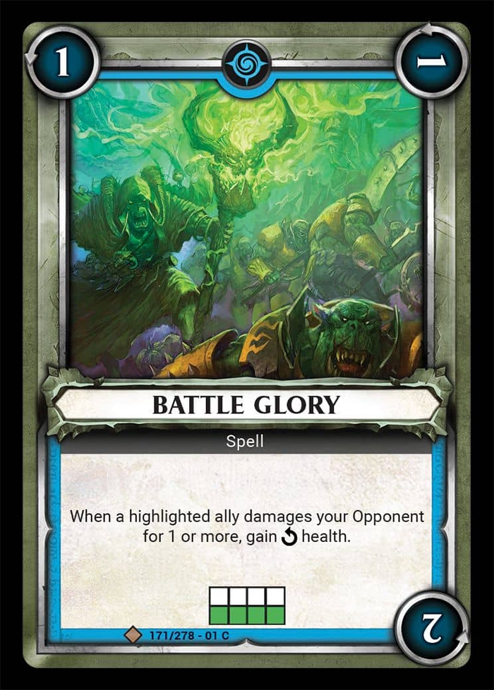 Warhammer Age of Sigmar Champions: 171- Battle Glory [FOIL]