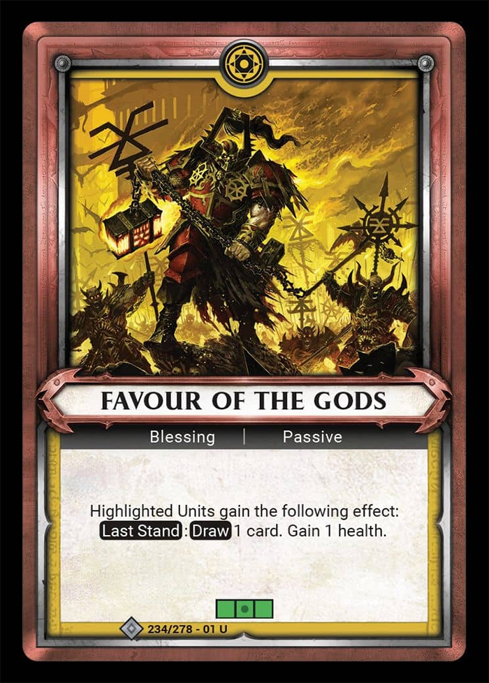 Warhammer Age of Sigmar Champions: 234- Favour of the Gods [FOIL]