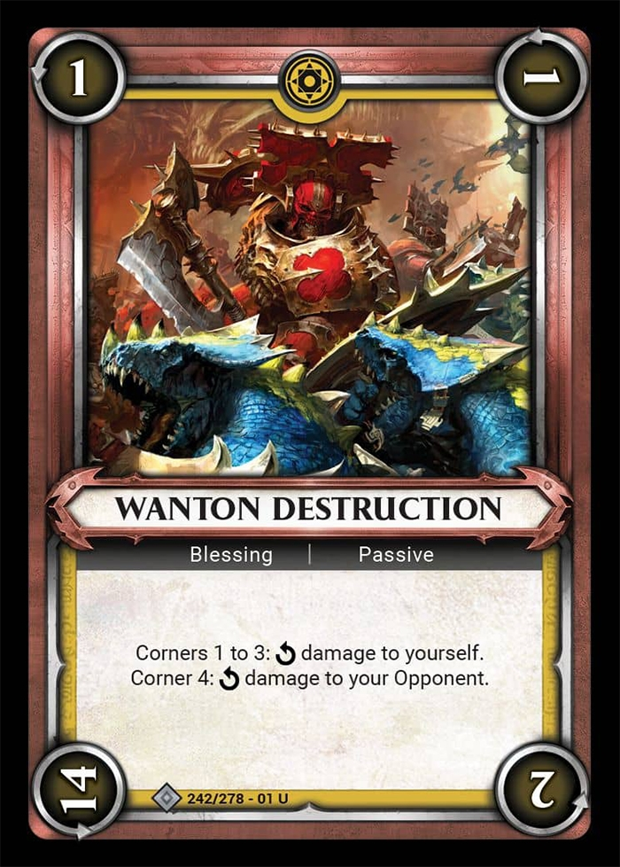 Warhammer Age of Sigmar Champions: 242- Wanton Destruction [FOIL]