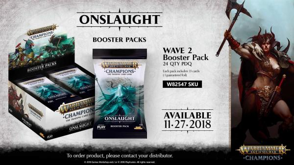 Warhammer Age of Sigmar Champions: Onslaught (Wave 2) - Booster Box [SALE]