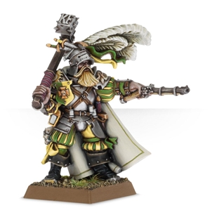 Warhammer Age of Sigmar: Free Peoples: Freeguild General (Captain of the Empire with Hammer Pistol)