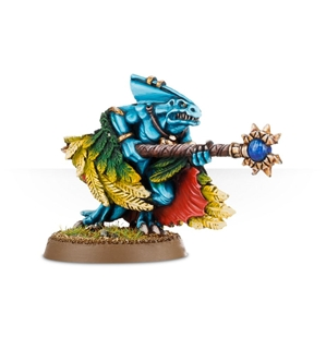 Warhammer Age of Sigmar: Seraphon: Skink Priest With Feathered Cloak
