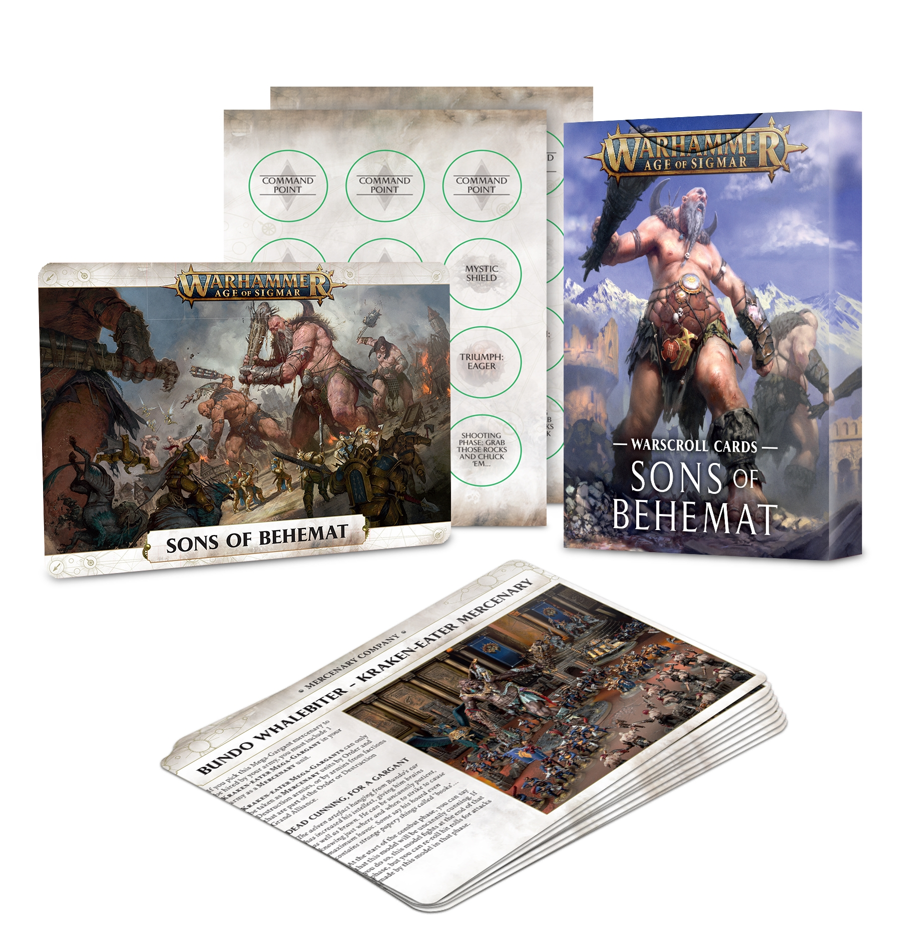 Warhammer Age of Sigmar: Warscroll Cards: Sons of Behemat