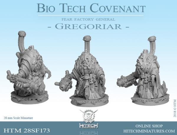 HiTech Miniatures: Bio-Tech Covenant- Fear Factory General Gregoriar