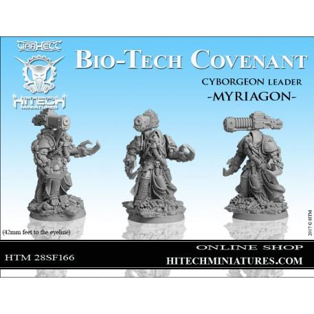 Warhell: Gearcult Bio-Tech Covenant- Cyborgeon Leader Myriagon