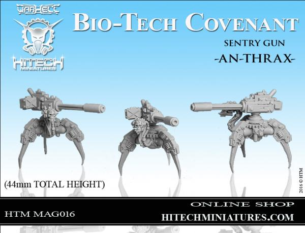Warhell: Gearcult Bio-Tech Covenant- Sentry Gun An-thrax
